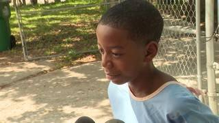 Boy, 10, says he was playing in yard with cousins when he was shot