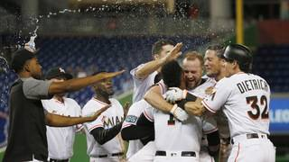 Reserve Holaday's hit helps Miami beat Brewers 4-3 in 10