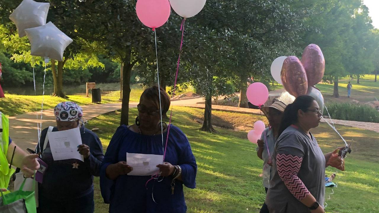 Vigil held Wednesday at Oyster Creek Park for Maleah Davis