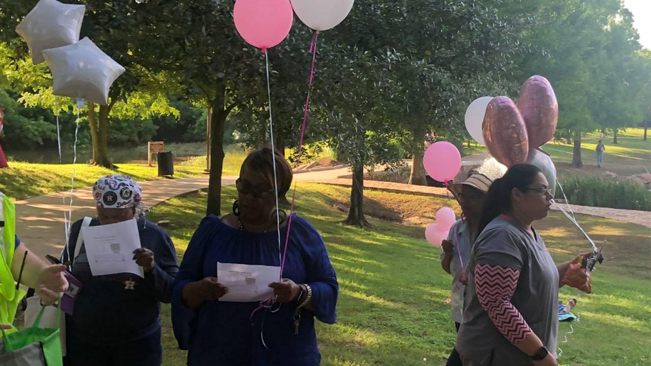 Vigil held Wednesday at Oyster Creek Park for Maleah Davis