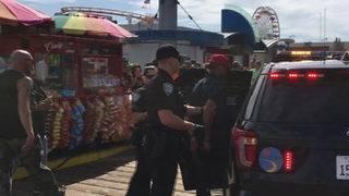 Protesters pepper sprayed at Calif.'s Santa Monica Pier