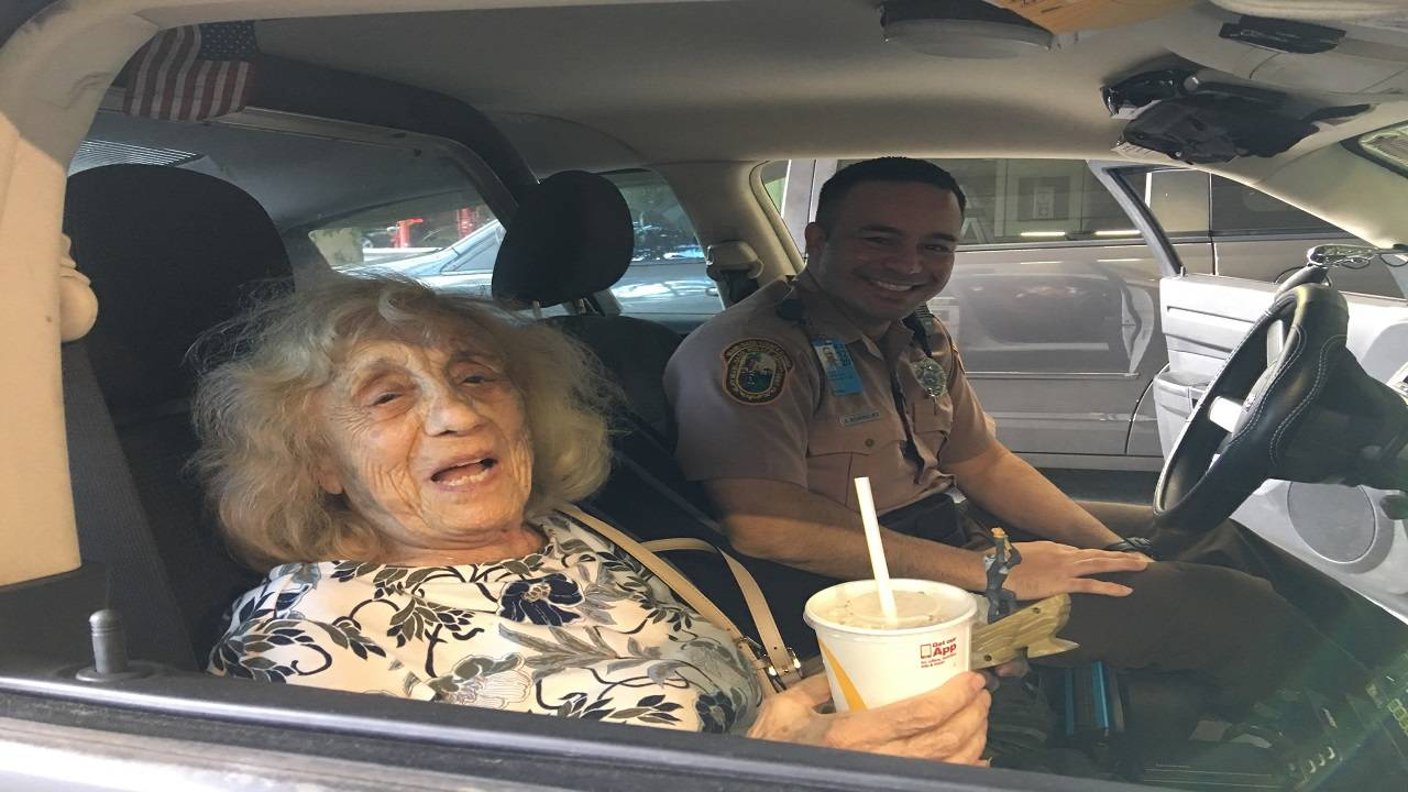 Edith Price and Officer Dwight Dominguez