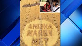 Man chooses crop circle stunt for engagement proposal