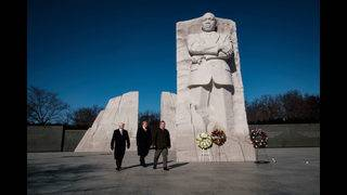 Photos of Trump's visits to the Martin Luther King Jr. Memorial