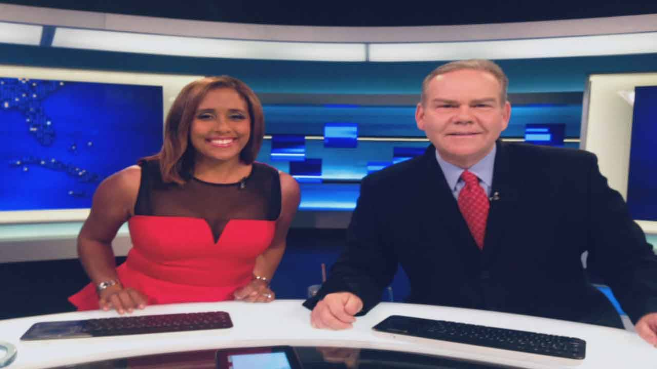 Todd Tongen and Neki Mohan on weekend anchor desk