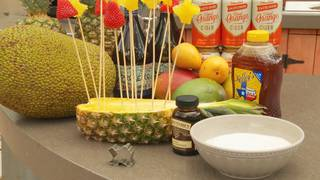 H-E-B Backyard Kitchen: Tropical Fruit Shapes with Cold Yogurt Fondue