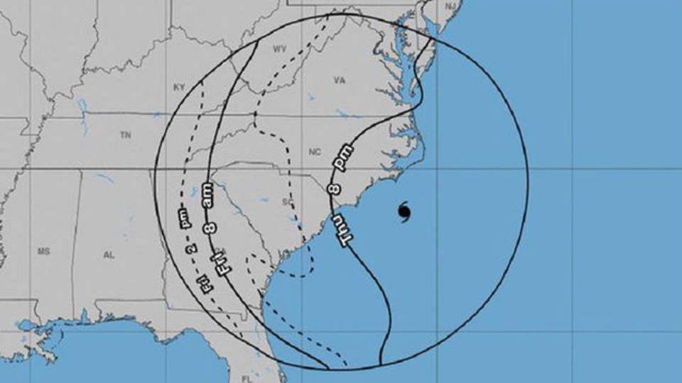 Hurricane Florence position 6 pm