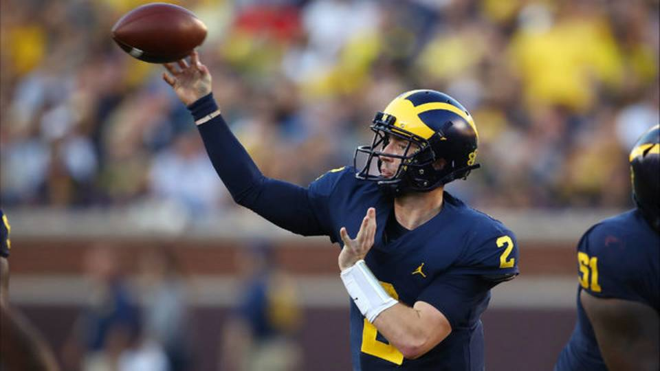 Shea Patterson pass Michigan football vs SMU 2018