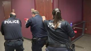 Humble ISD PD performs active shooter response training