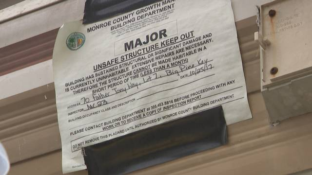 Monroe County Unsafe Structure notice