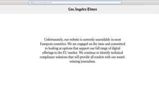 LA Times takes down website in Europe