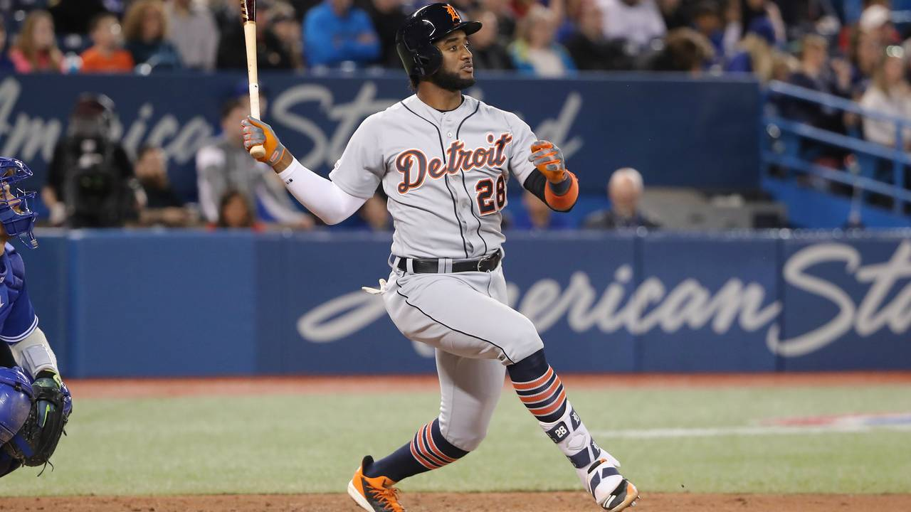 Niko Goodrum double Detroit Tigers vs Blue Jays 2019