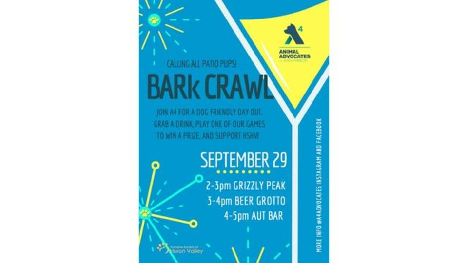 A4 BARk Crawl Poster