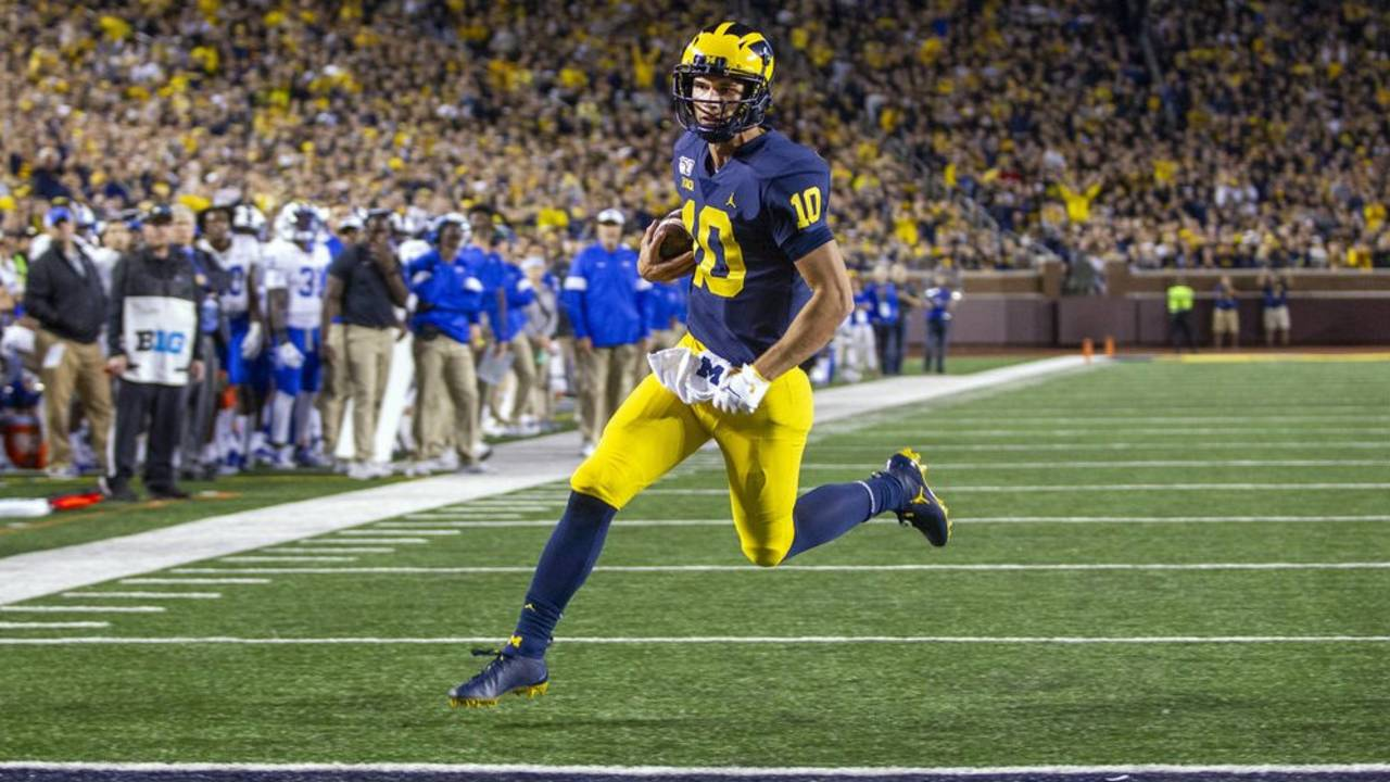 Dylan McCaffrey Michigan football vs Middle Tennessee State 2019
