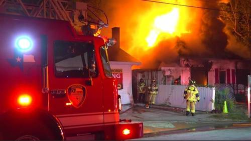 Fire sweeps through 3 buildings in Montrose