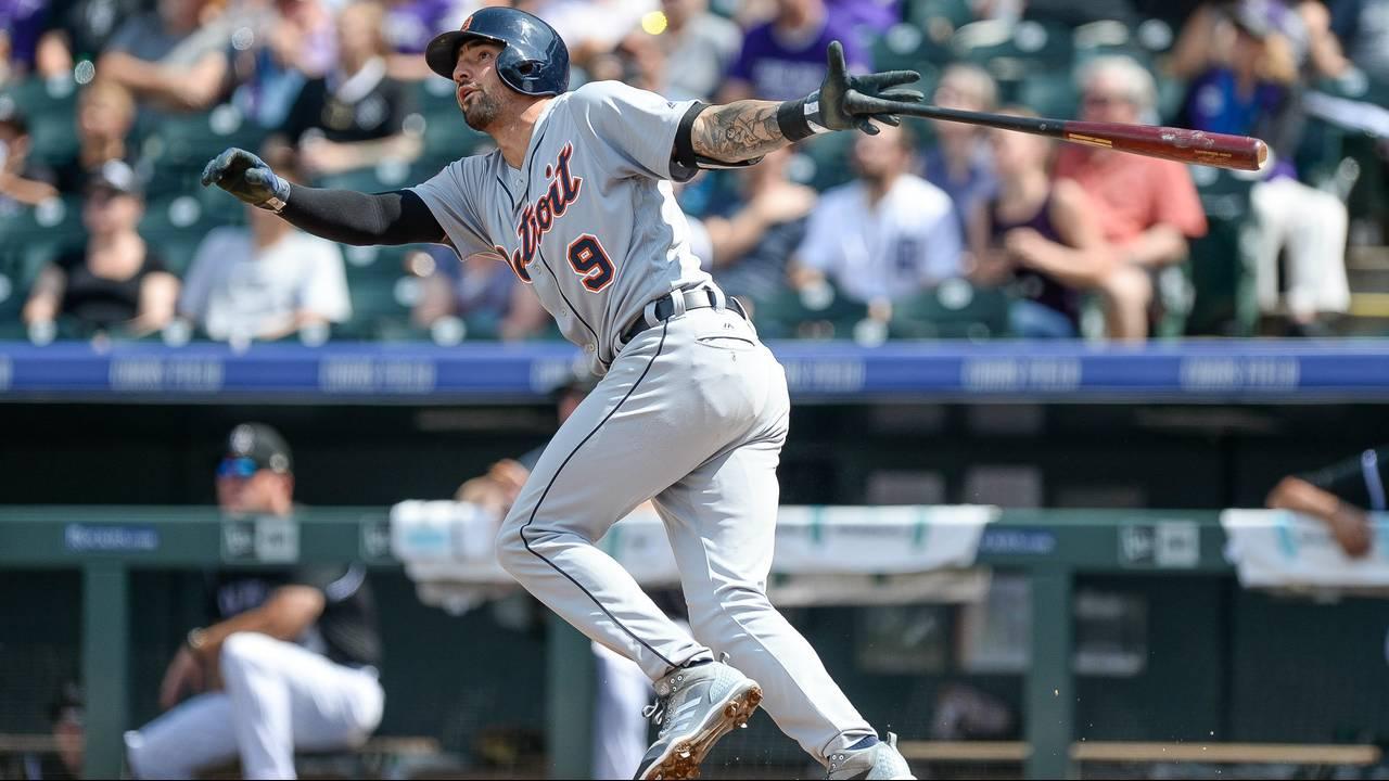 Nicholas Castellanos home run Detroit Tigers vs Rockies 2017