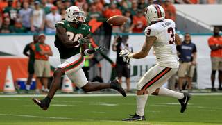 Hurricanes receiver Dayall Harris transferring for final year of eligibility