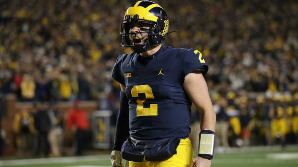 Shea Patterson Michigan football vs Wisconsin 2018