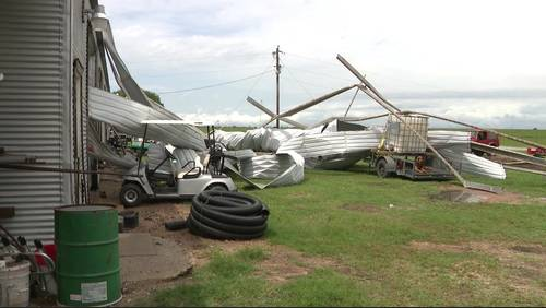 Possible tornado leaves trail of damage in Colorado County