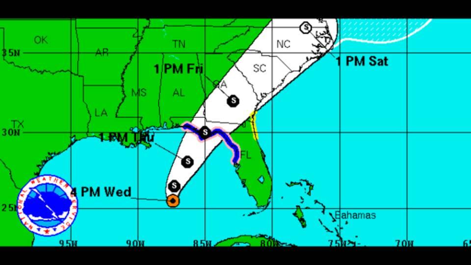 Tropical Storm HERMINE  5 PM NOAA