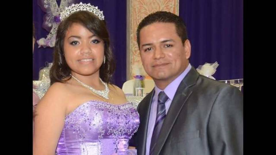 Jose and Jacelynn Valero at her Quinnceanera
