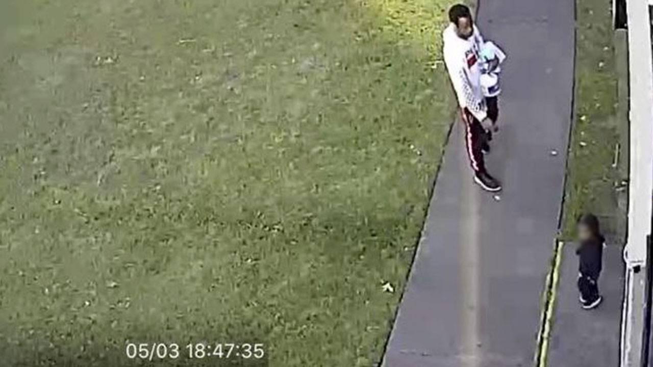 Derion Vence leaving apartment 5-3-19