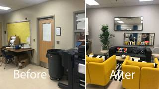 Orange County parents, students give teacher lounge extreme makeover