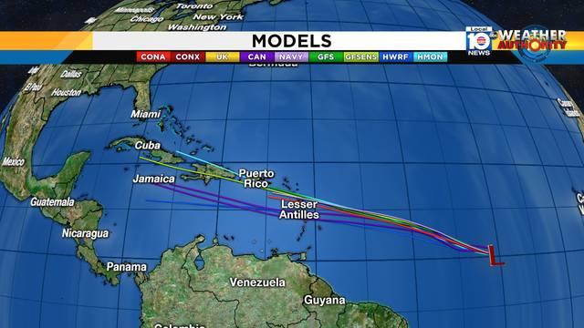 Tropical Depression No. 2 Models July 5, 2018