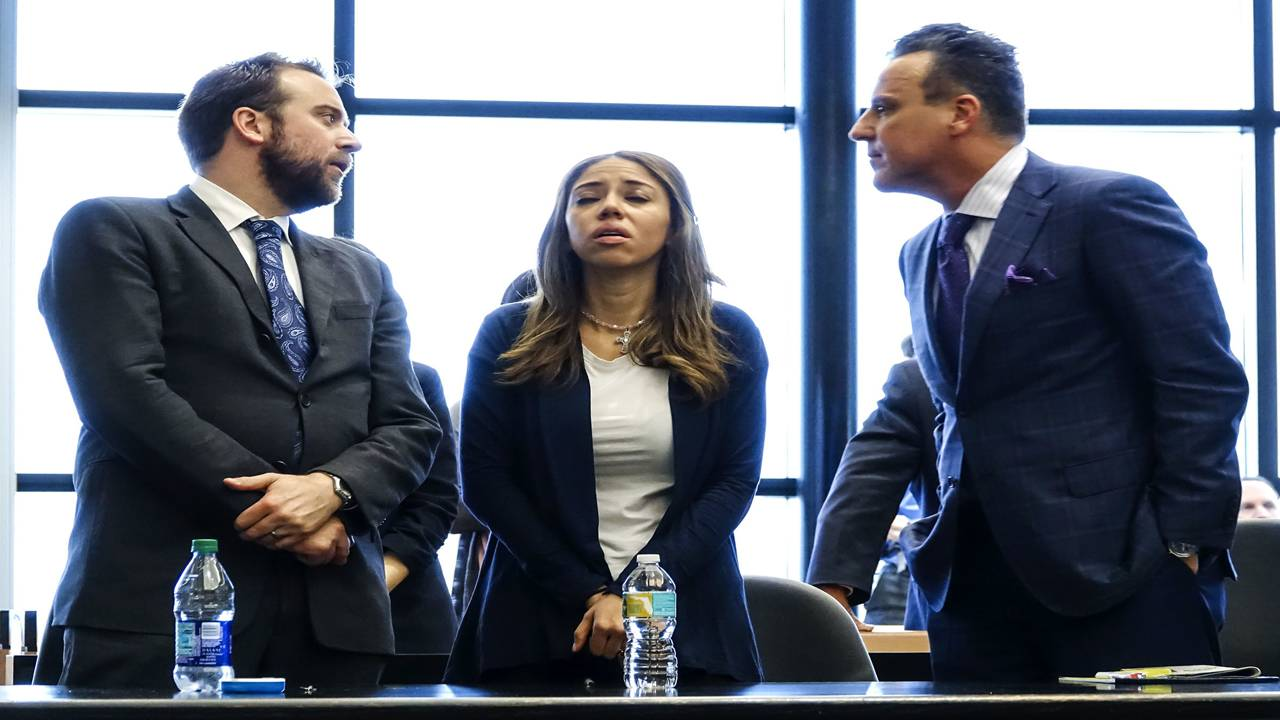 Dalia Dippolito with attorneys Greg Rosenfeld and Brian Claypool as she is found guilty in third trial
