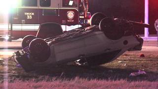 2 hospitalized after being ejected from vehicle in rollover crash