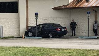 Carjacker crashes into church as children play at summer camp