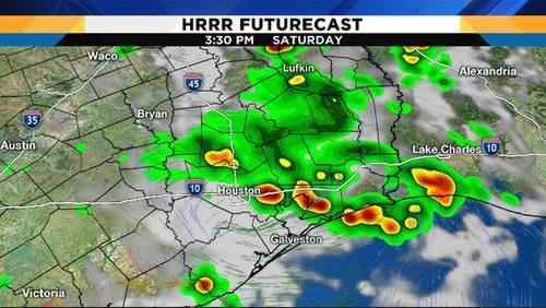 Stormy Saturday in Houston