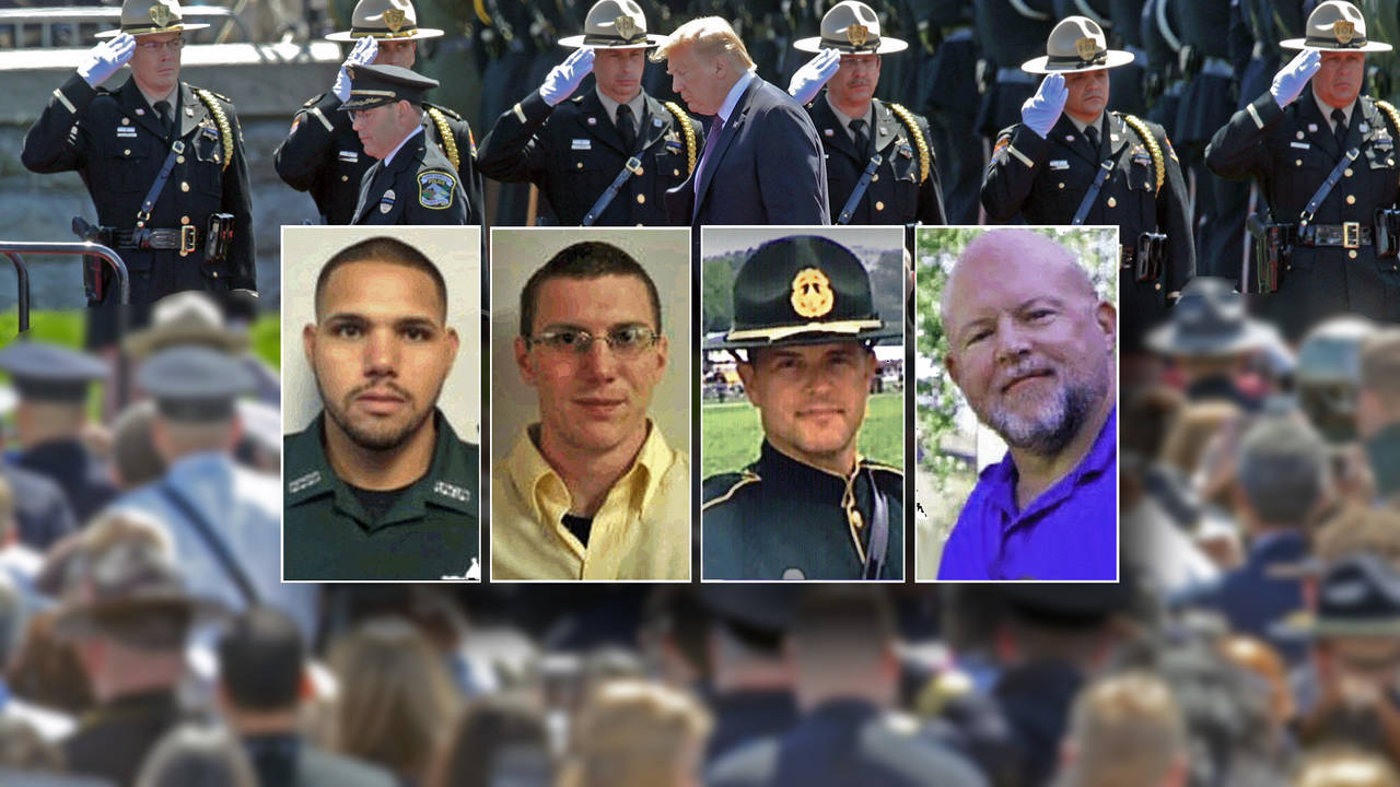 4-officers-inset-on-National Police Law Enforcement Memorial photo