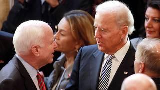 Joe Biden consoles Meghan McCain on father's cancer diagnosis