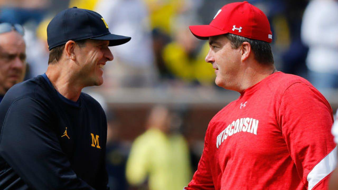 Jim Harbaugh and Paul Chryst 2016
