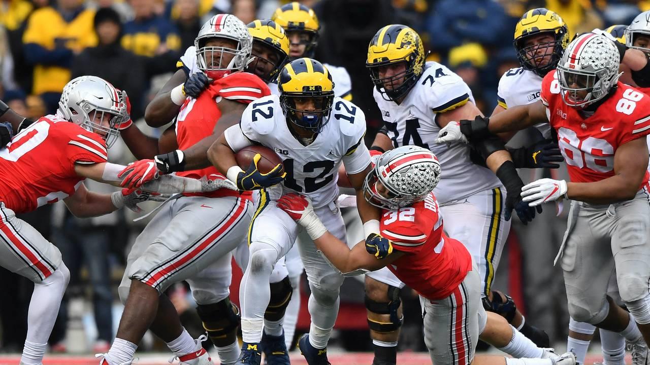 Chris Evans run Michigan football vs Ohio State 2018