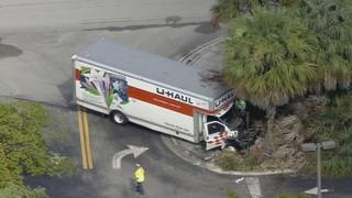 Crash involving U-Haul truck shuts down portion of Pine Island Road