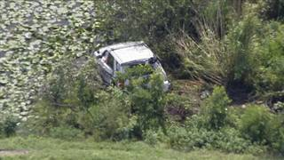 Pembroke Pines police officer crashes vehicle into ditch off Krome Avenue