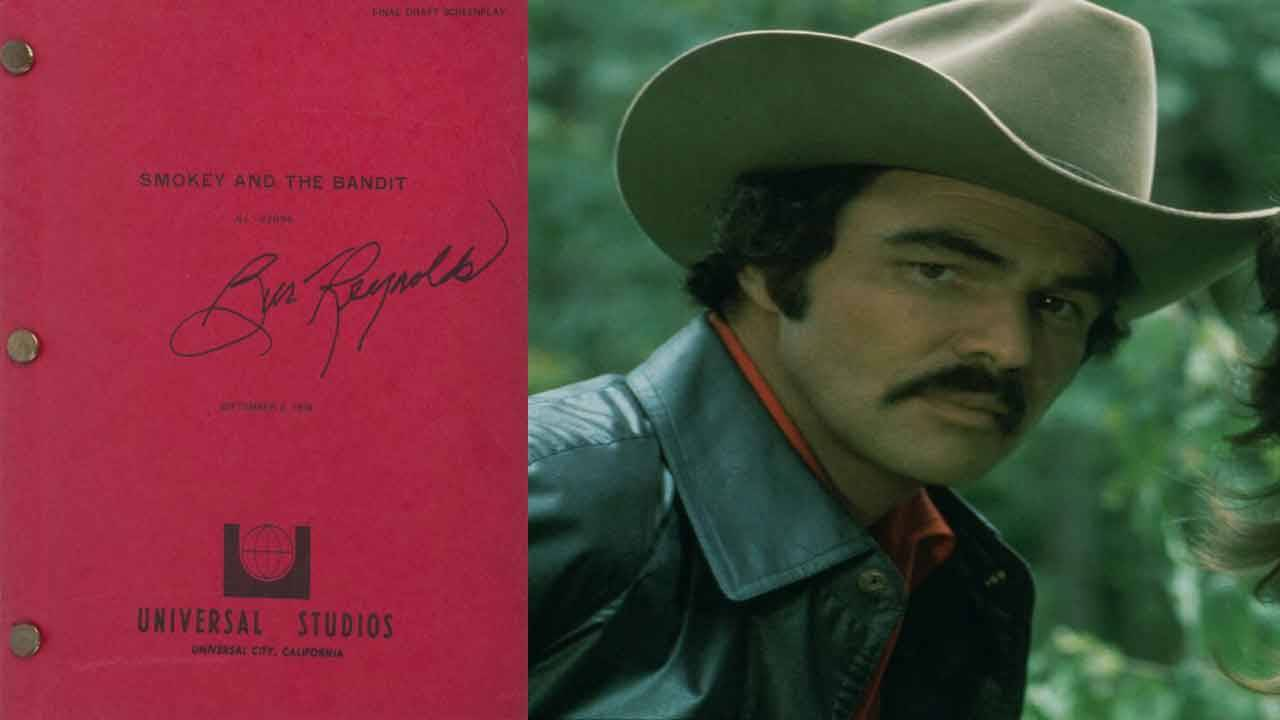Burt Reynolds 'Smokey and the Bandit' autographed script