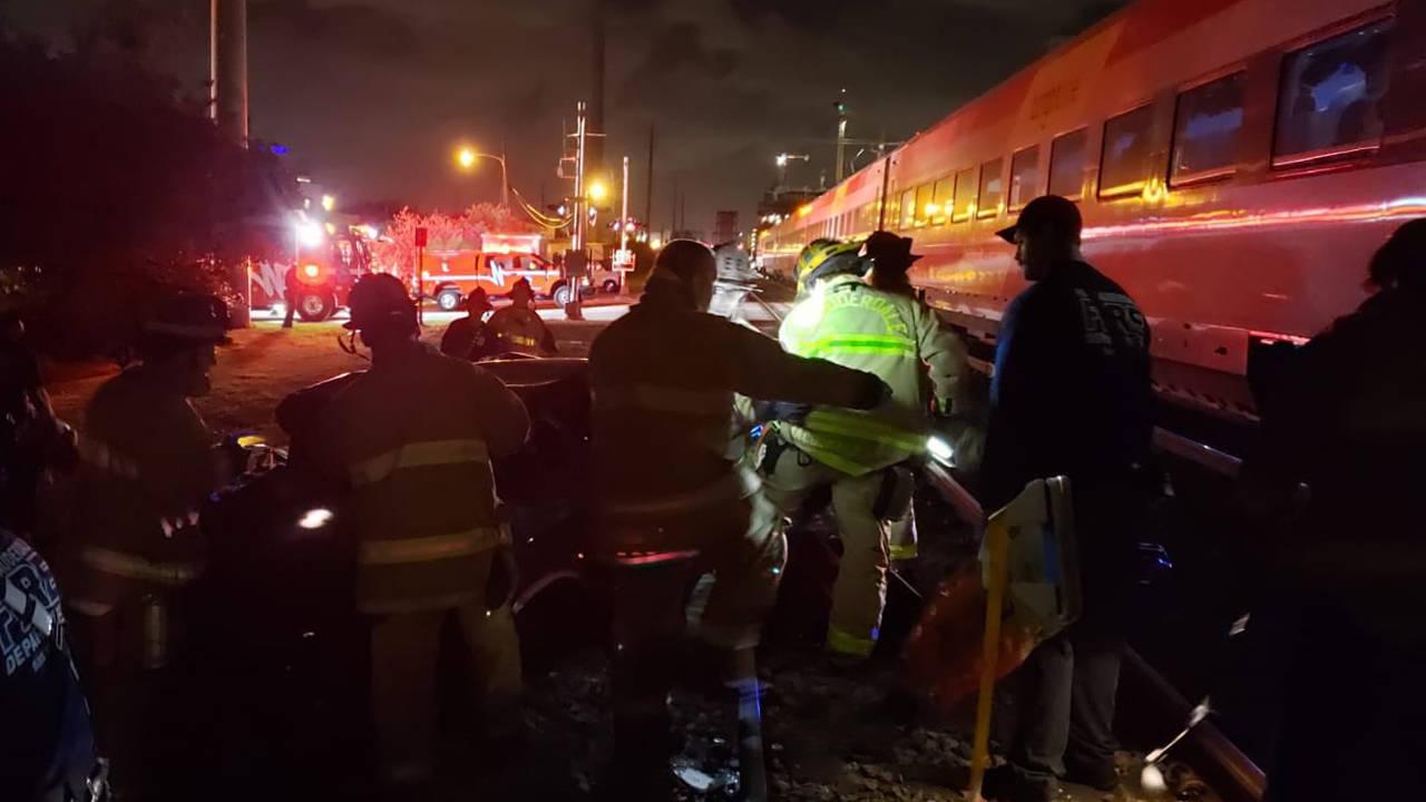 Brightline hits car in Fort Lauderdale