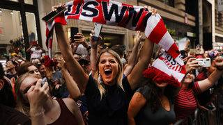 USWNT victory celebration in NYC
