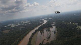 Aerial images of North Carolina flooding