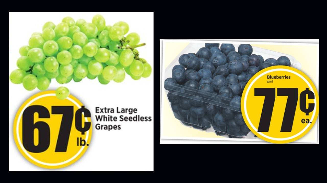 HEB grapes and blueberries 7-17-19