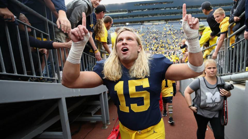 Chase Winovich Michigan football vs Nebraska 2018
