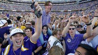 LSU fined $100K after students storm football field