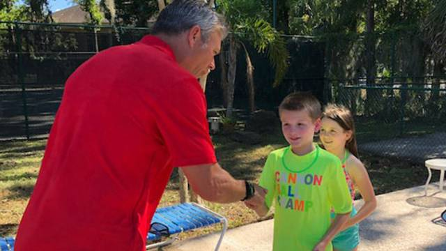 Mark Brunell stops by Williams Family YMCA