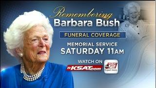 Former first lady Barbara Bush's memorial service set for 11 a.m. Saturday