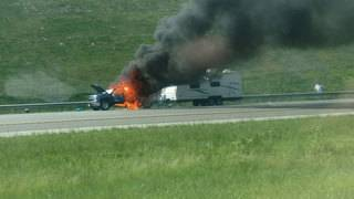 Car fire caused delays on Interstate 81
