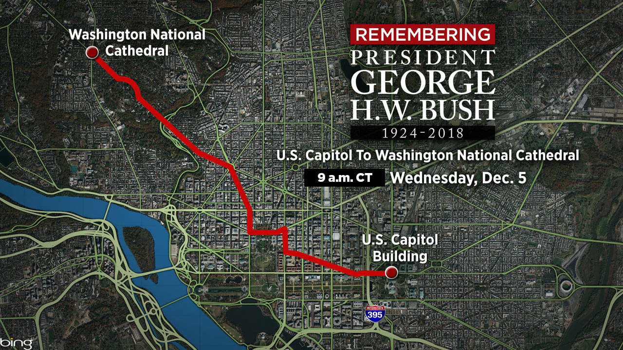 USE THIS! Captiol to Cathedral motorcade map 12-4-18