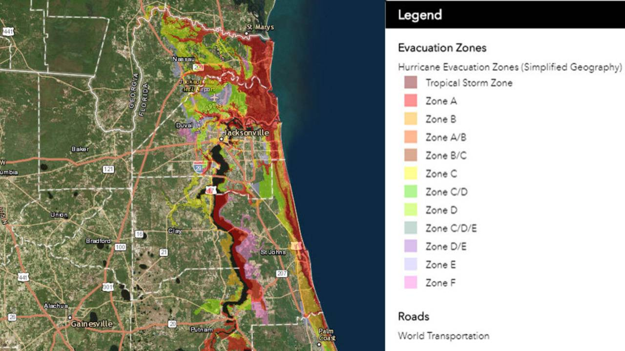 Florida Elevation Map Interactive.Know Your Flood Evacuation Zone
